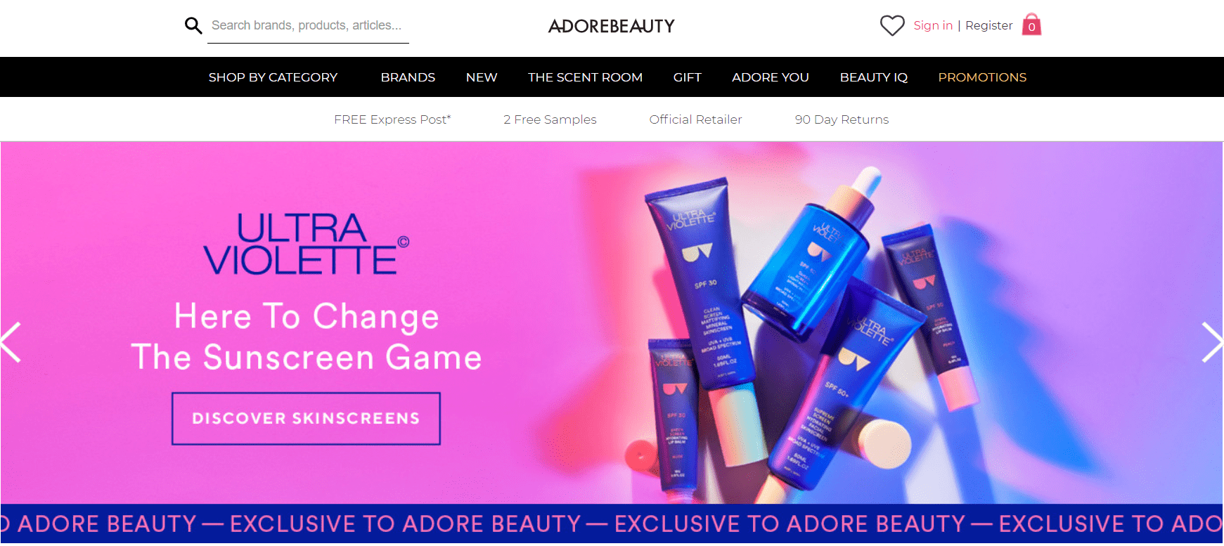 adore beauty website